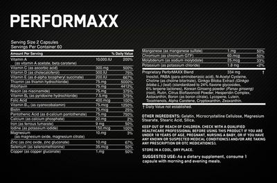 Optimum Ntutrition Performaxx Facts